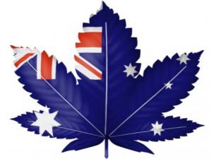 Marijuana leaf with Australian flag design: CannaSensation Rule & Legislation Blog